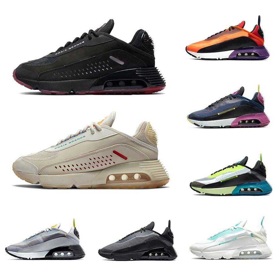 2020 Praia Grande 2090 Mens Running shoes Aurora Green Magma Orange Navy Magenta Black Anthracite men women sports sneakers 36-45