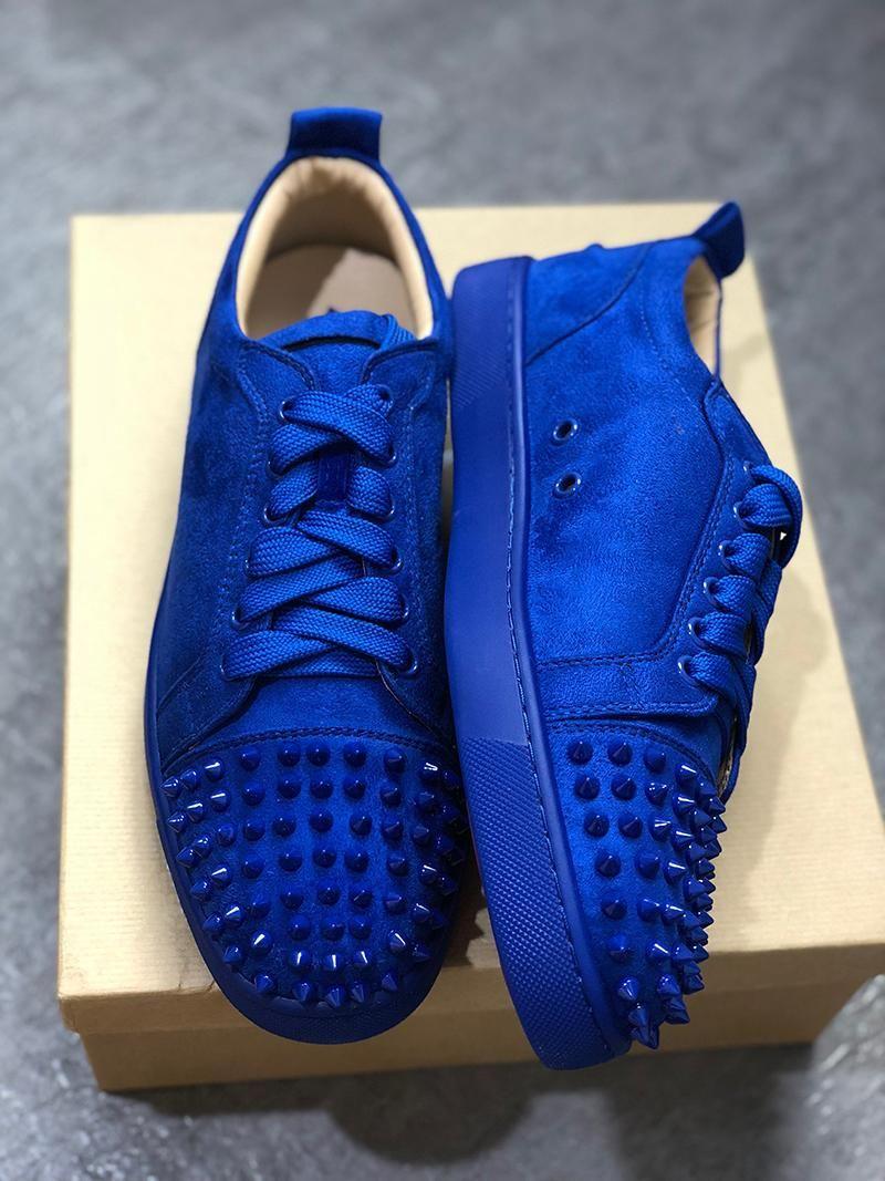 Parti Düğün kristal Deri Sneakers büyüklüğü 13 cs08 için moda lüks Tasarımcı Sneakers Kırmızı Alt ayakkabı Düşük Kesim Süet başak erkek tasarımcı