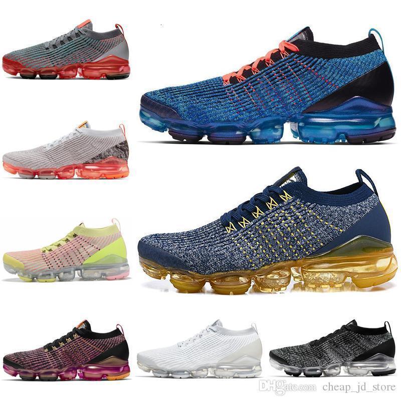 Sıcak Satış Koşu Ayakkabı 3.0 Kadın Erkek Üçlü Siyah Beyaz South Beach Mavi Fury Oreo LAZER Erkek Eğitmenler Spor Sneakers 36-45 Soğuk
