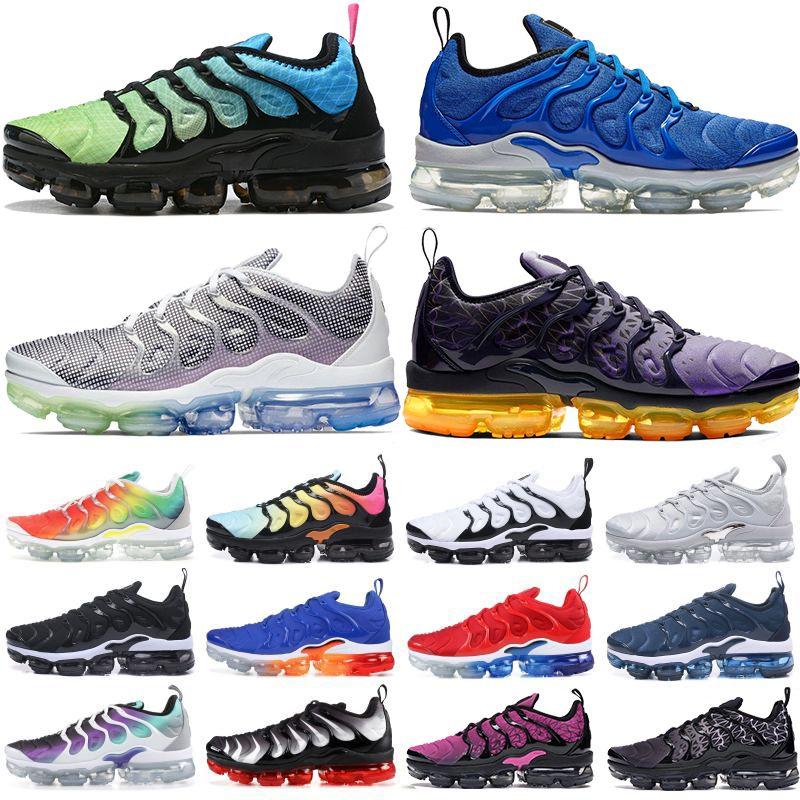 2020 Yeni Erkek Aurora yeşil TN PLUS koşu ayakkabıları OYUN KRALİYET RACER MAVİ ruhu gerçek Izgara Baskı erkekler kadınların eğitmenler spor ayakkabısı olmak çamurcun