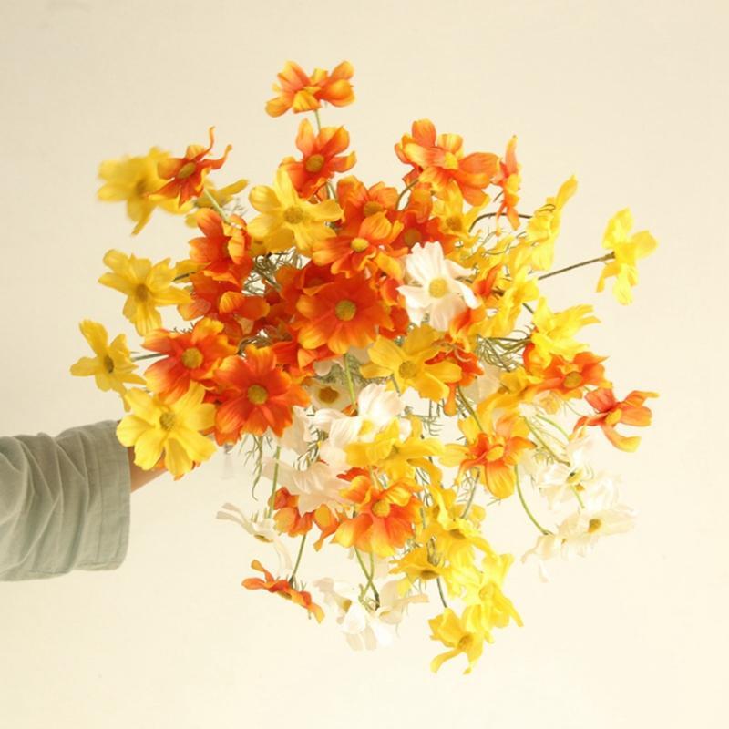 Fleurs artificielles Faux Cosmos Fleurs Petite Daisy Décoration Salon Affichage décoration fleur de mariage WZW-YW3680