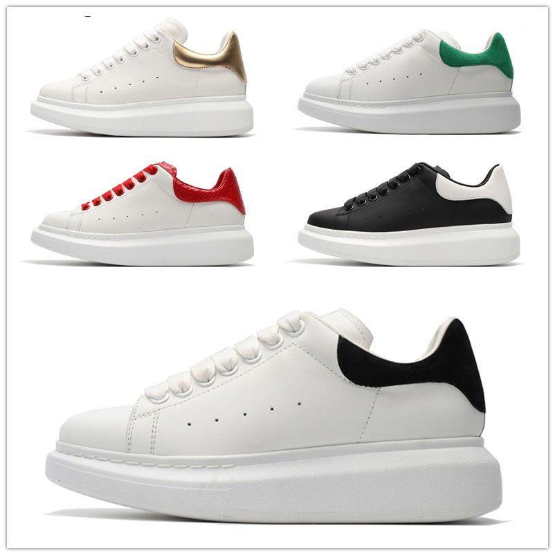 3M Reflex schwarz weiß Samt Thick-soled flache Frauen Männer Art und Weise lederne Turnschuhe HOT Designer Schuhe Höhe zunehmenden Freizeitschuh