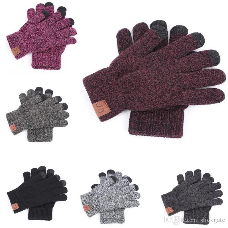 Quality Outdoor Children Full Finger Mitten Christmas Gift Kids Knitted Gloves