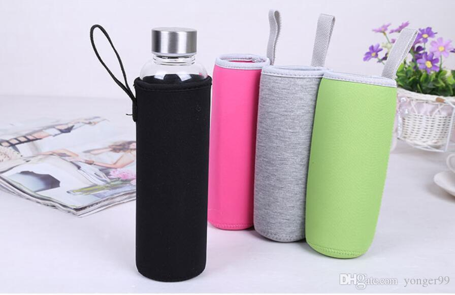2020 new 550 ml glass water bottle sleeve neoprene water bottle carrier holder sleeve candy with handle perfect for protection sweat absorption from yonger99 0 62 dhgate com dhgate com