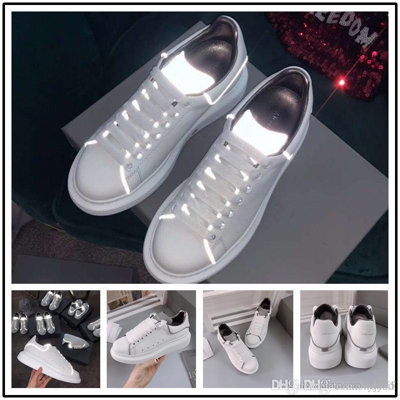 2020 Lüks Bayan kız rahat ayakkabılar Düz tasarımcı spor ayakkabıları kadınlar siyah sarı yeşil Moda Deri Ayakkabı Koşu 35-45
