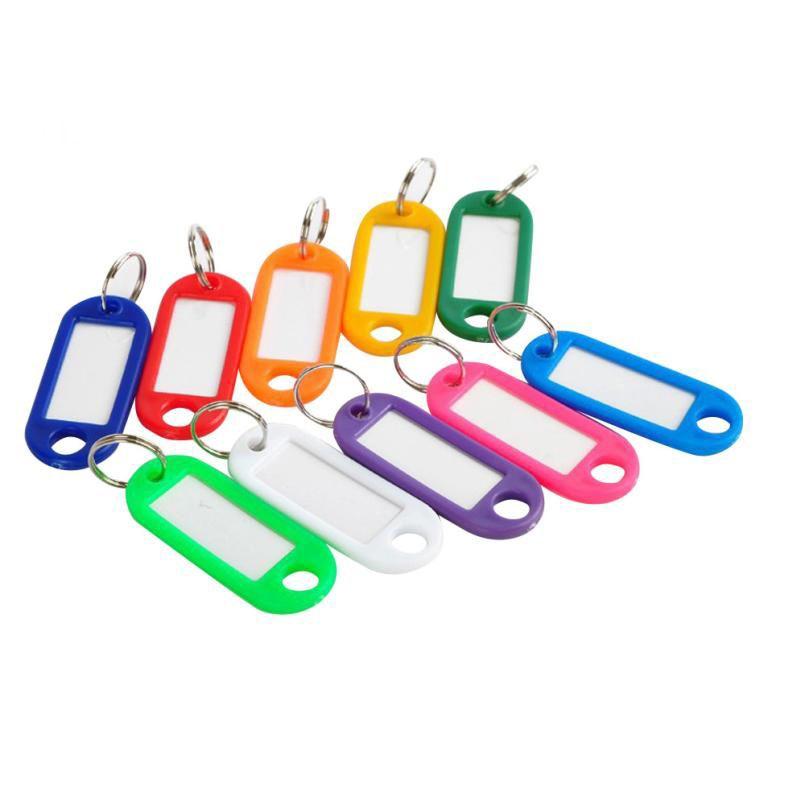 Chaveiro Vida por atacado quente! 100 Peças de Plástico Tags Chave Assorted Chave Anéis ID Tags Etiqueta Do Cartão de Nome Venda Quente