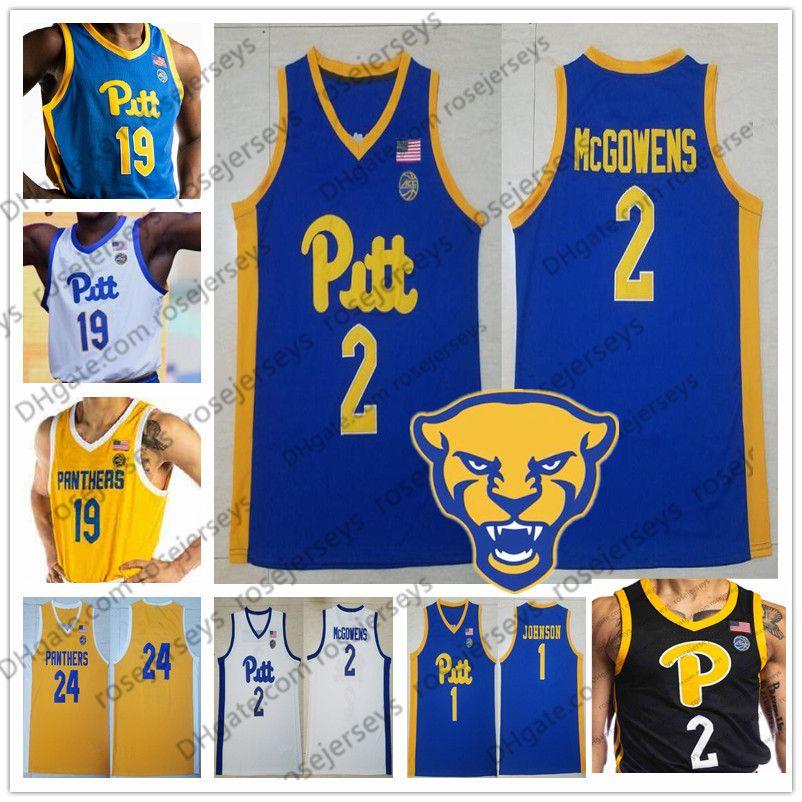Costumbre PITT Pittsburgh Panthers # 0 Eric Hamilton 5 Au'diese Toney 11 Justin Champagnie 21 Terrell Brown 2020 Negro Baloncesto Jersey 4XL