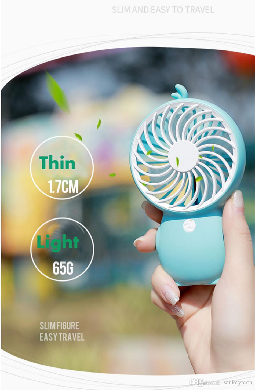 2019 Nuovo Design Portable USB Mini Fan Cartoon Duck Penguin Built-in Pocket Pocket ufficio ventilatore di raffreddamento con cordino