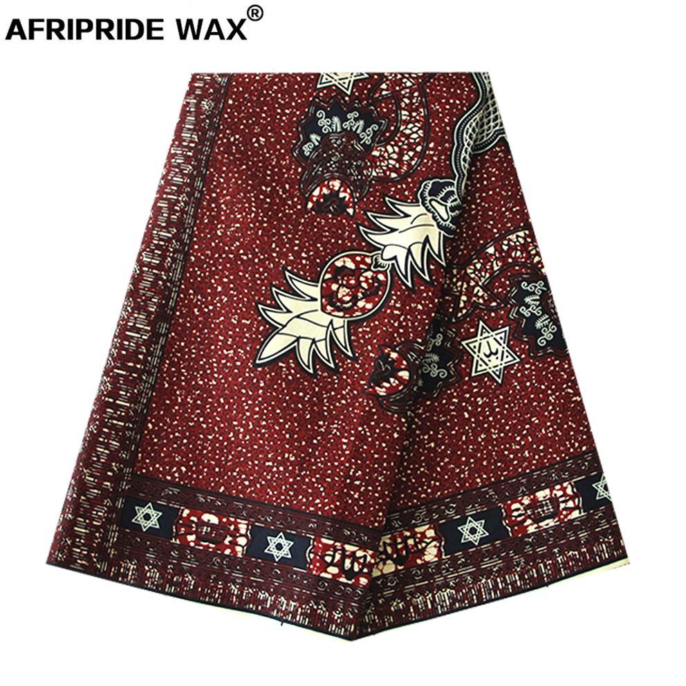 Новый Батик Хлопчатобумажная ткань Африррид 100% Высокое Качество Хлопок Анкара Печать Ткань для создания одежды A18F0454