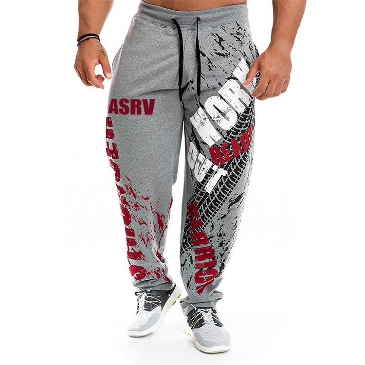 Erkek Jogger Pantolon Gym Egzersiz Giyim 4 Renkler Harf Baskı İpli Sweatpants Erkekler Marka Jogger Pantolon