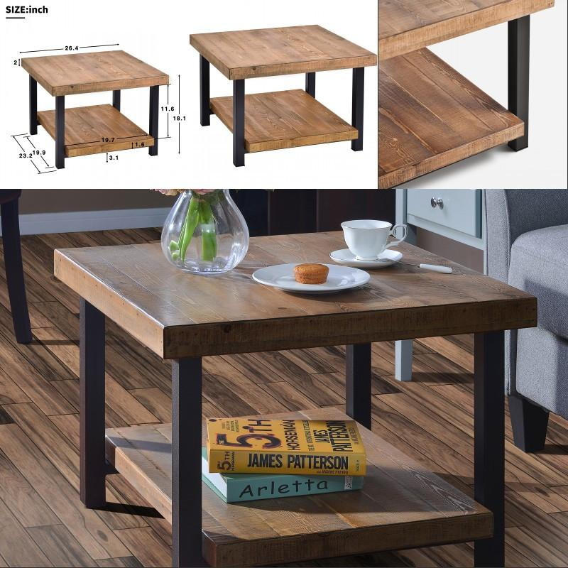 2019 26 Size Easy Assembly Hillside Rustic Natural Coffee Table