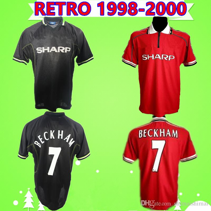 2020 retro soccer jersey man utd 1998 1999 2000 vintage classic football shirt 98 99 united home red away black solskjaer beckham scholes giggs from shimaishimai 14 2 dhgate com 2020 retro soccer jersey man utd 1998 1999 2000 vintage classic football shirt 98 99 united home red away black solskjaer beckham scholes giggs from