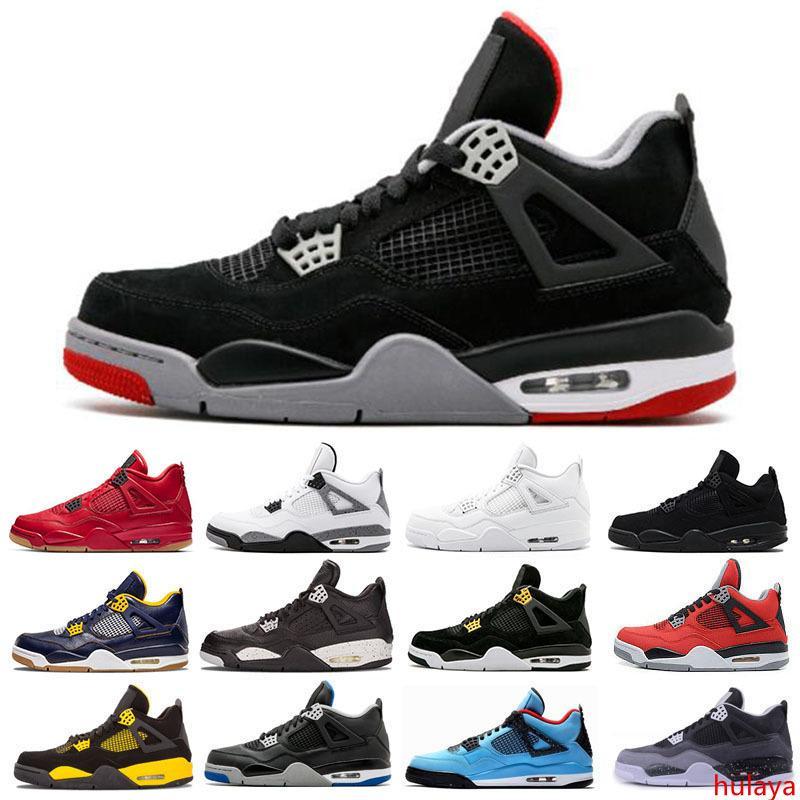 Tatuagem escolhe o dia 4 4S Mens mulheres tênis de basquete Raptors Branco Cimento Alternate Motorsport criados Sapatilhas Sports Shoes 7-13