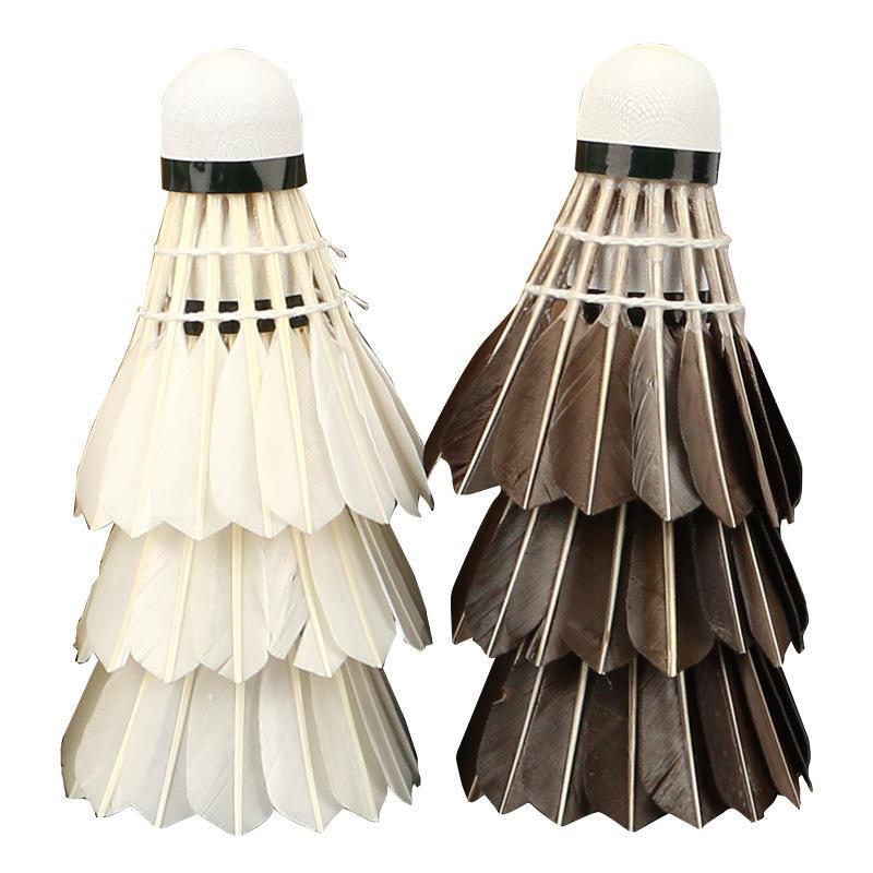 Nouveaux 12pcs / baril plume de canard Badminton Volants Intérieur Extérieur Entraînement sportif Badminton Balles Birdies Concours Qualité Badminton