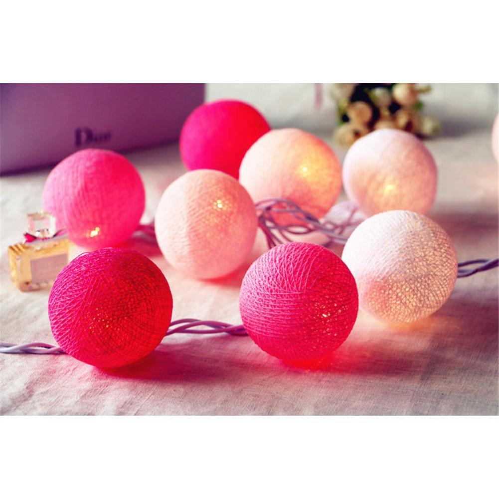 Thaïlande Main De Haute Qualité Coton Ball 20 Lumière Couleur Parti DIY Décoration de La Maison Accessoires