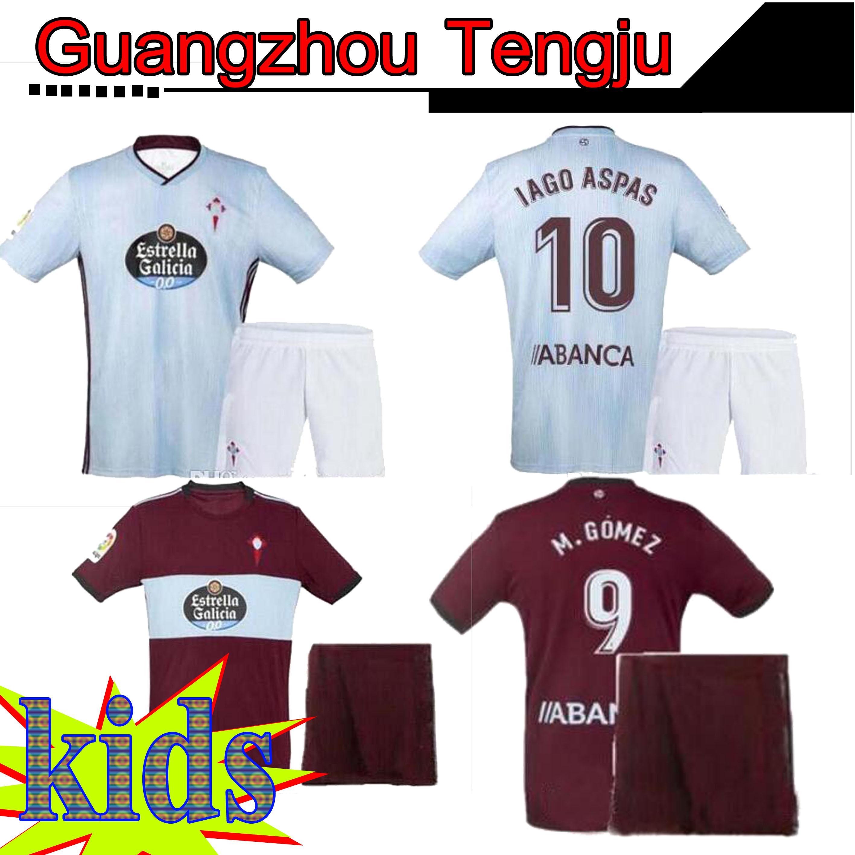 Kinder 19 20 RC Celta de Vigo Fußball-Trikot BONGONDA Nolito IAGO ASPAS BRAIS MENDEZ RC Celta Fußball-Kits Hemd