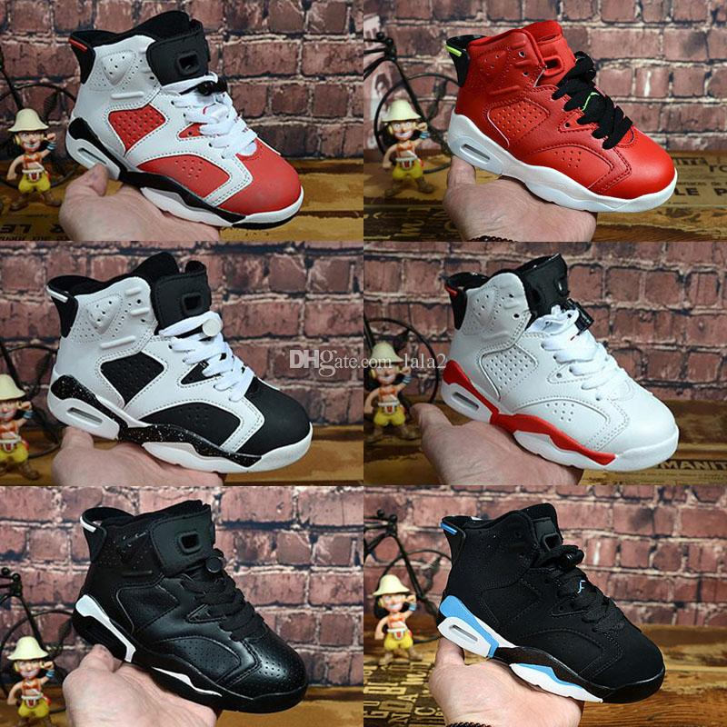 2019 New Children's Jumpman 6 VI Basketball Shoes Kids 6s Sports Boys Girls Youths Baby outdoor Sneakers size 28-35