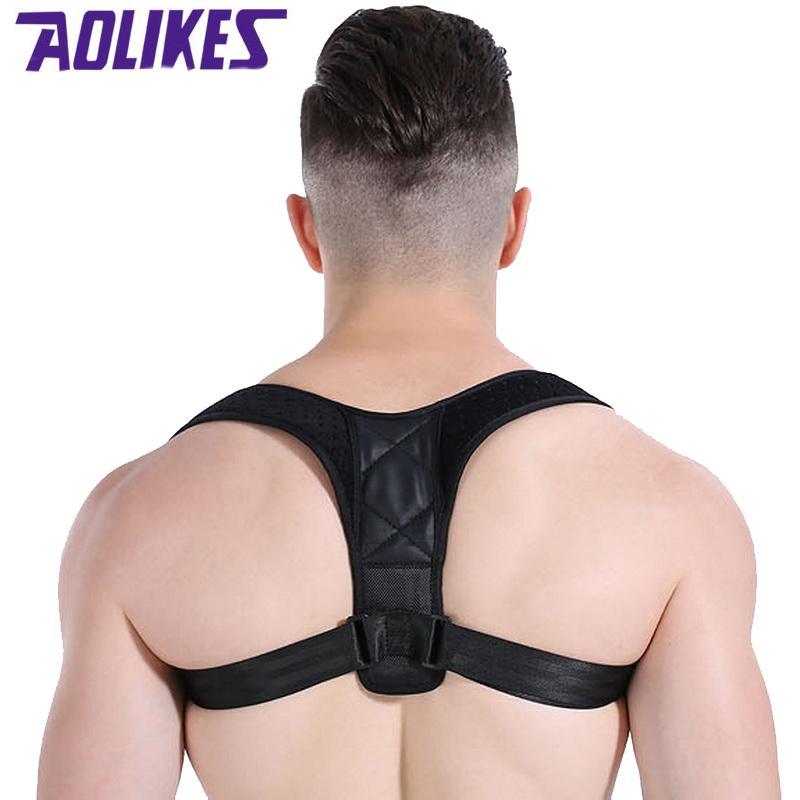 AOLIKES SPINE Voltar Postura Correia Correia Homens Mulheres Busto 70 a 120cm Prova Orthotic Bandagem Para Crianças Cinta Postural