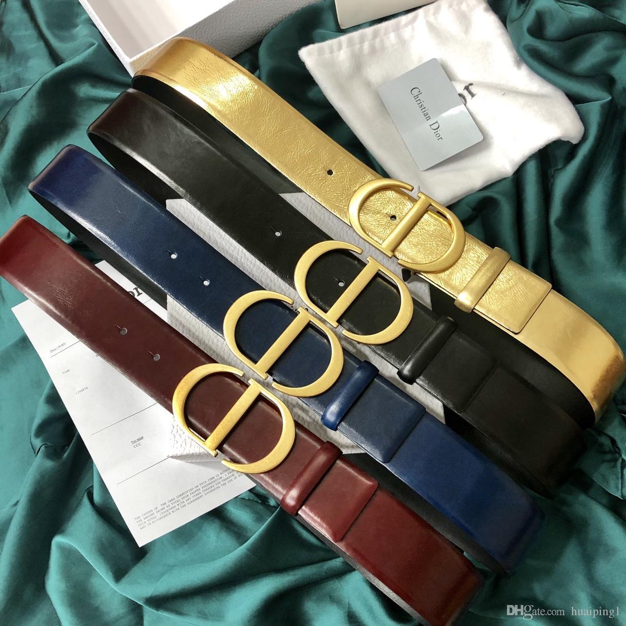 Ceintures de luxe Ceintures d'ceinture des femmes marque Casual Lisser Ceintures Boucle Mode 6 Styles Largeur 40 mm de haute qualité avec l'option de la boîte