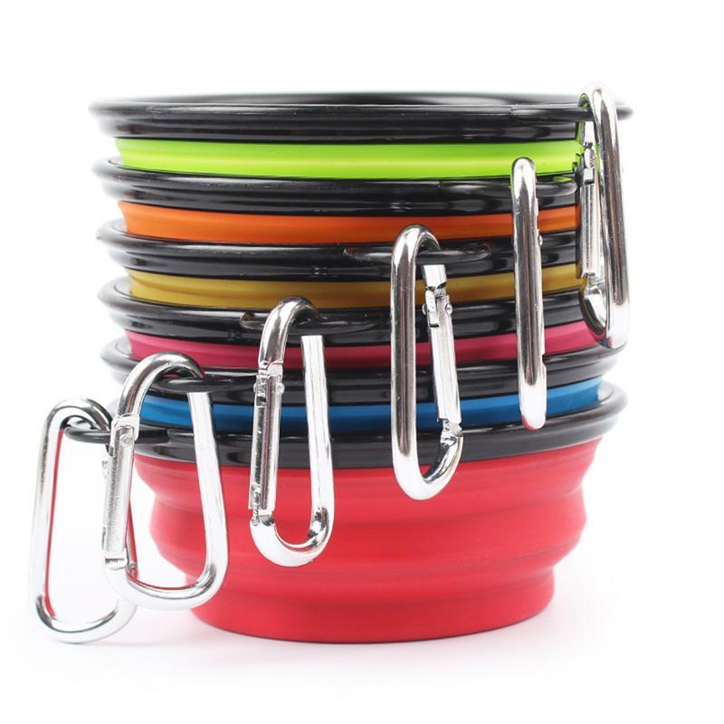 Beweglicher Silikon-Platten Folding Cat Dog Bowls im Freien Spielraum-Haustier-Welpen-Hunde Feeder-Nahrungsmittelbehälter Dish Pet Hundebedarf Produkte