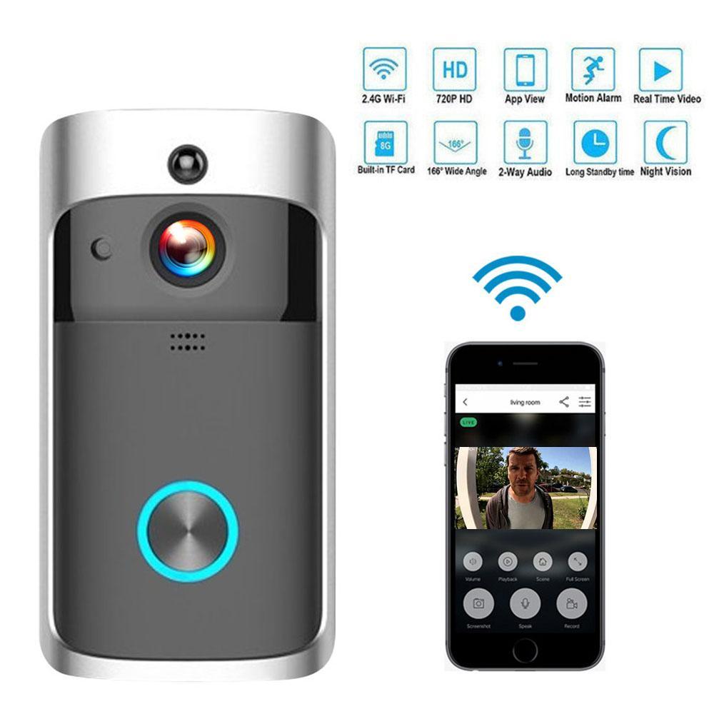 WiFi Kapı zili Kamera IP video interkom Görüntülü Kapı Telefonu Kapı Bell Daireler IR Alarm Kablosuz Güvenlik Kamerası