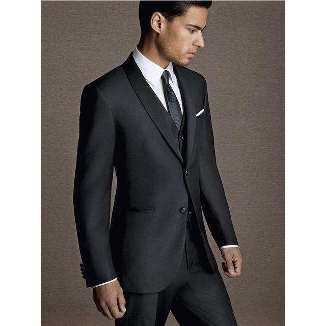 Erkek takım elbise erkek zarif beyefendi takım elbise üç parçalı takım (ceket + pantolon + yelek) düğün damat sağdıç elbise destek özel