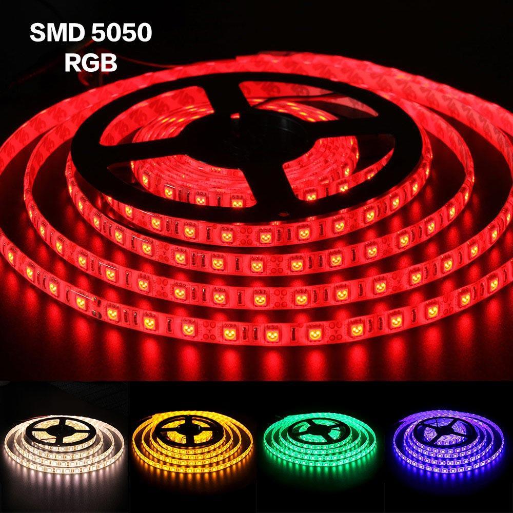 BRELONG SMD5050 방수 라이트 스트립 여러 가지 빛깔의 5M 300LEDs 12V 화이트 따뜻한 화이트 옐로우 그린 블루 레드 RGB