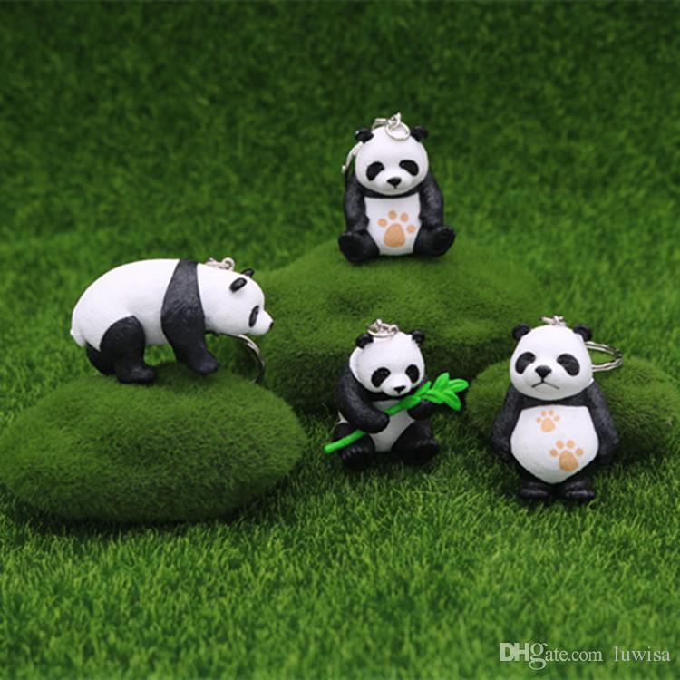 Acheter Dessin Animé Mignon Panda Porte Clés Porte Clés Pendentif Pvc Porte Clés Chaîne Cadeau Bambou Panda Poupée Porte Clés Mélanger En Gros De