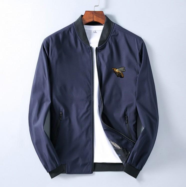 Chaqueta hombres de la moda de primavera y otoño invierno 2020 Nueva ocasionales de los deportes de la chaqueta del collar del soporte de Trend Animal bordado superior de la cremallera del tamaño M-3XL