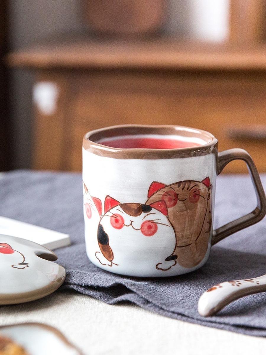 الفخار سفر عيد الميلاد القدح القهوة لطيف عيد الميلاد القهوة الأقداح الإبداعية Tazas دي سيراميكا Creativas الفخار كأس القهوة 50mkb29 T200506