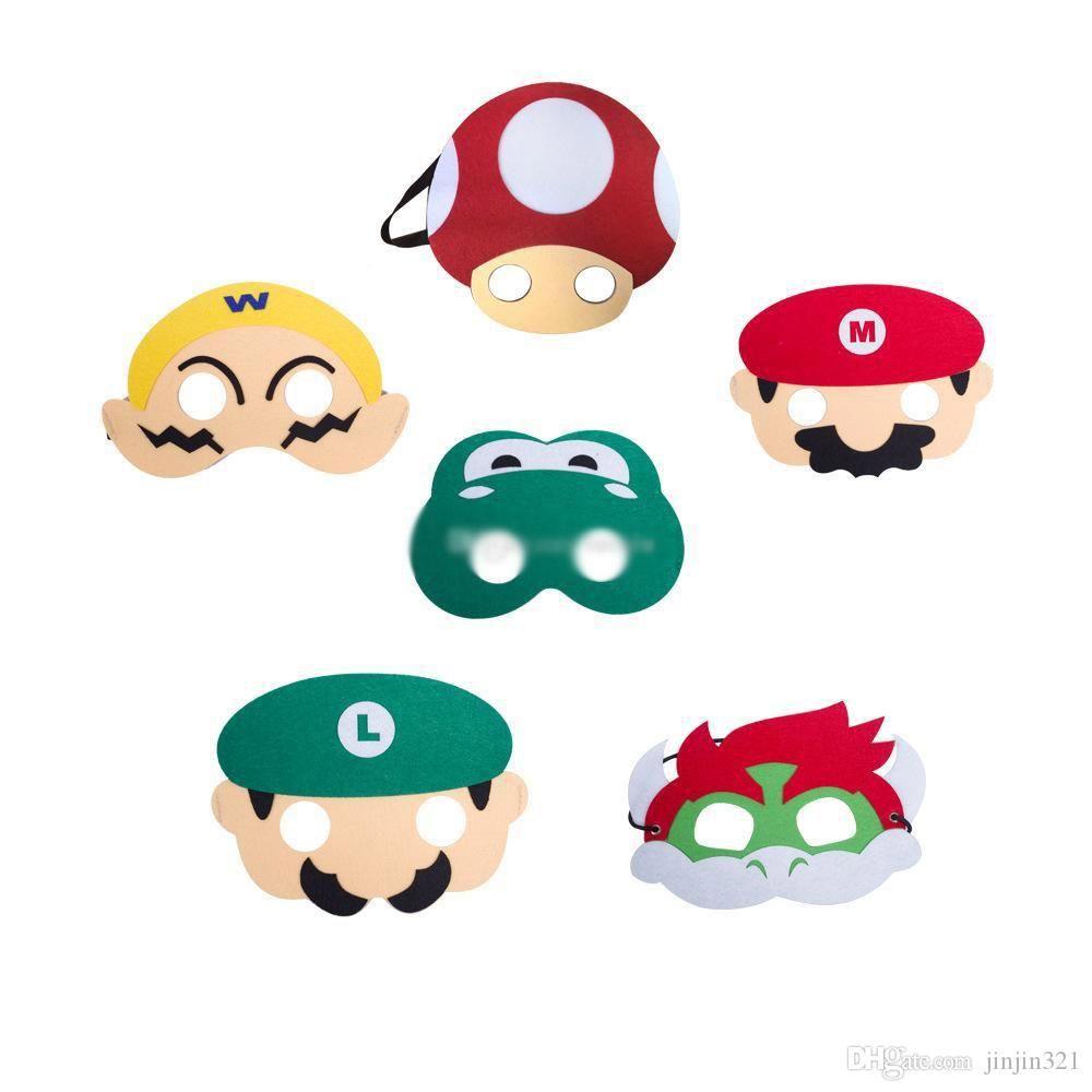 Halloween Jouets Super Mario Bros Enfants Mask Party Cosplay Masques pour enfants Garçons Filles Birthday Party Decoration Halloween Dress Up cadeaux Favor