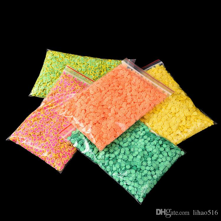 10000pcs JUMBO Bag 3D Fimo Polymer Clay Fruit Flowers Heart Smill Slices Design For CellPhone nail art DIY Decoration more LH310