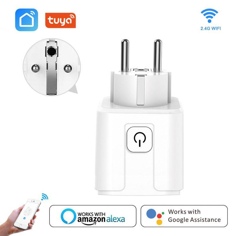 소비자 전자 스마트 플러그 와이파이 무선 EU / FR 16A 플러그 소켓 콘센트 음성 원격 제어 작품으로 Google 홈 알렉사 스마트 라이프 미니