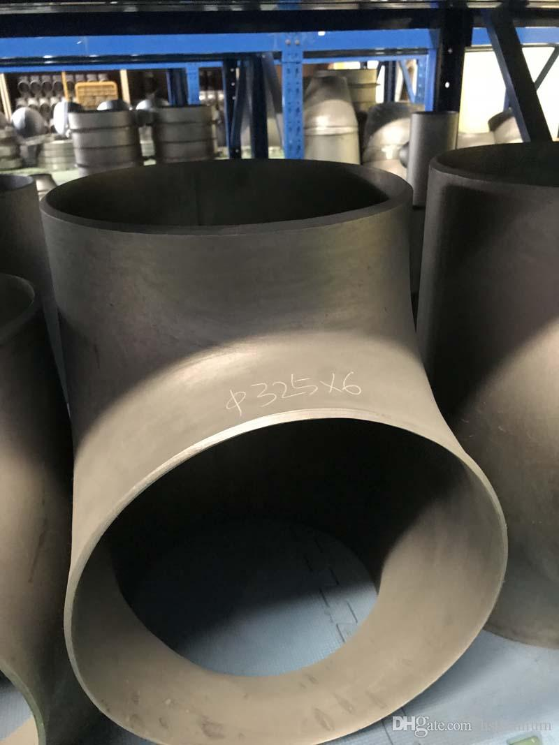 Hot sale Gr7 titanium tee for pipe fitting Ti alloy R50400/GR.2 schedule 40 titanium tee butt weld t shape pipe fittings
