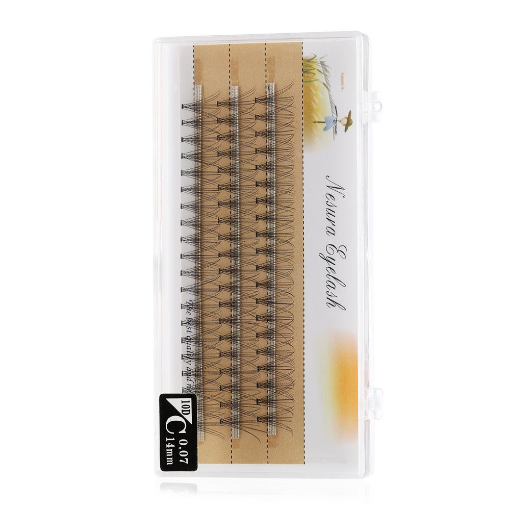 60 Clusters/box Handmade False Eyelashes Individual Eye Lashes Extension C D Curl Knot Free Eyelashes Woman's Fashion Lash