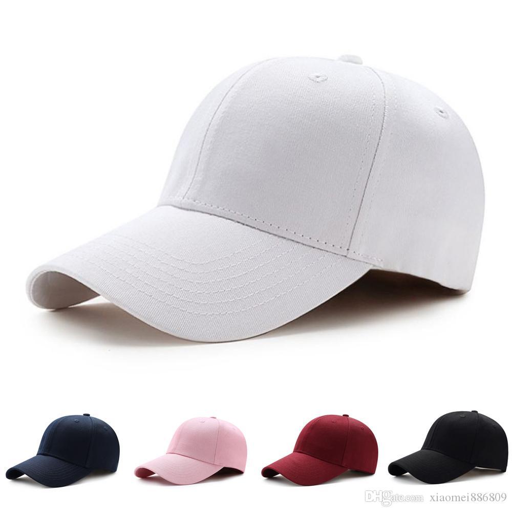 브랜드 뉴 남성 여성 일반 곡선 일 챙 야구 모자 모자 단색 조절 캡 스냅 백 골프 공의 힙합 모자 캡