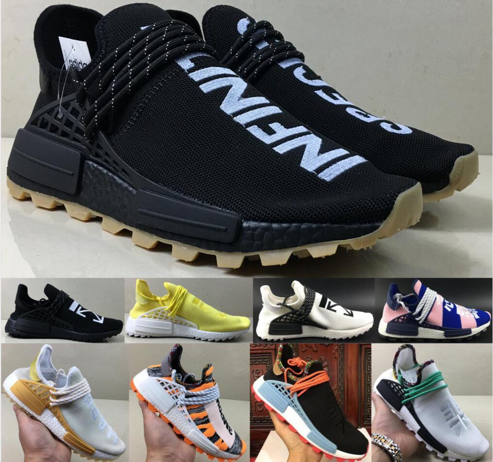 2020 Moda Luxo Pharrell Williams Platform raça humana das mulheres dos homens Sports Mc Tie Dye Pacote Solar mãe do desenhista calça as sapatilhas