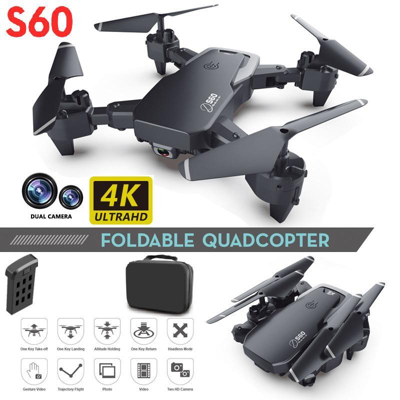 الطائرات بدون طيار كاميرا بدون طيار 4K زاوية واسعة كاميرا واي فاي FPV كاميرا مزدوجة RC كوادكوبتر الطول الاحتفاظ جيب بدون طيار صورة شخصية هدية هليكوبتر للأطفال 2020