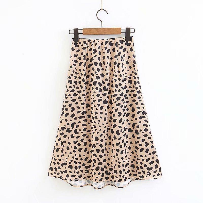 Jupes femmes Jupe Eté 2019 Vintage jupe taille haute Leopard jupes pour femmes punk rock coréenne style Boho Streetwear Femme