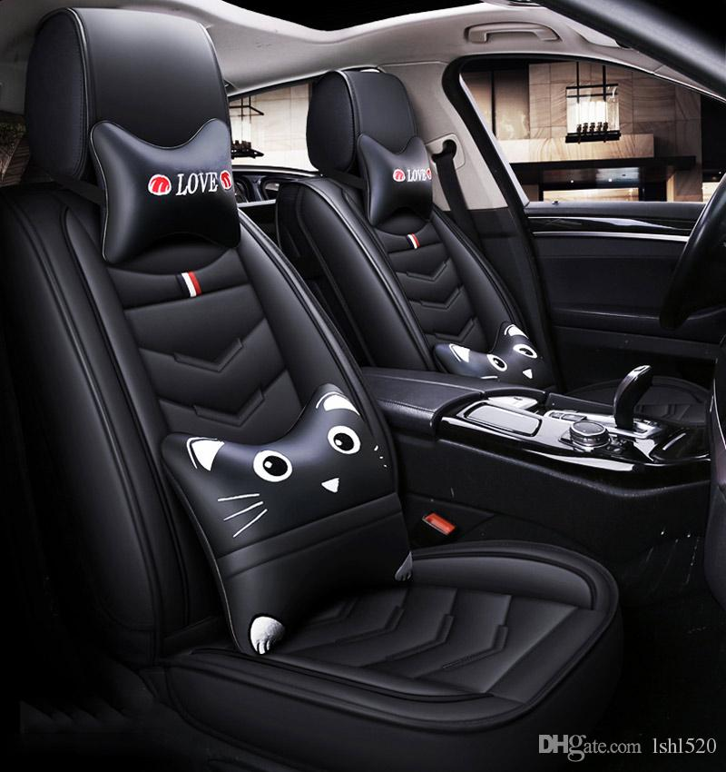2019 Cartoon Luxury Leather Car Seat Covers For Mercedes Benz Gl