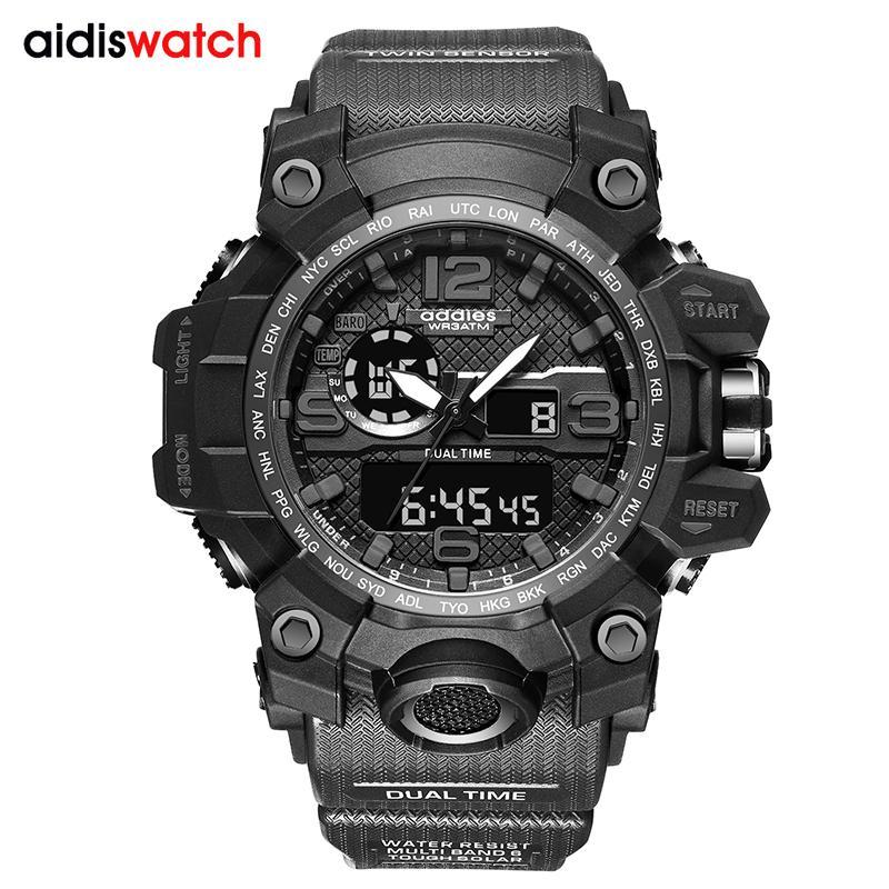 G стиль Shock Часы Мужские Military Army Мужские часы Часы светодиодные цифровые спортивные наручные часы Мужской подарков Аналоговые Автоматические часы Мужской