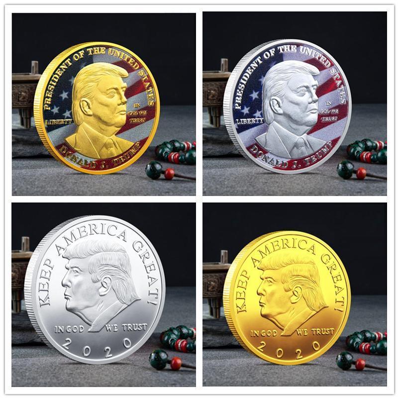 Trump Discours Président Monnaie commémorative Amérique Trump 2020 Pièces de collection Artisanat Trump Keep America Great Coins A458