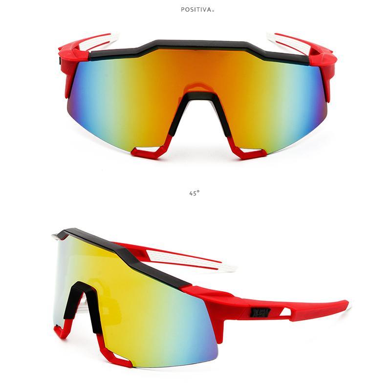 Heiße Selling Mens einen.Kreislauf.durchmachenglas Bike polarisierte Sonnenbrille im Freien Fahrradbrille Nachtsichtbrille PC Material Radfahren Protektoren