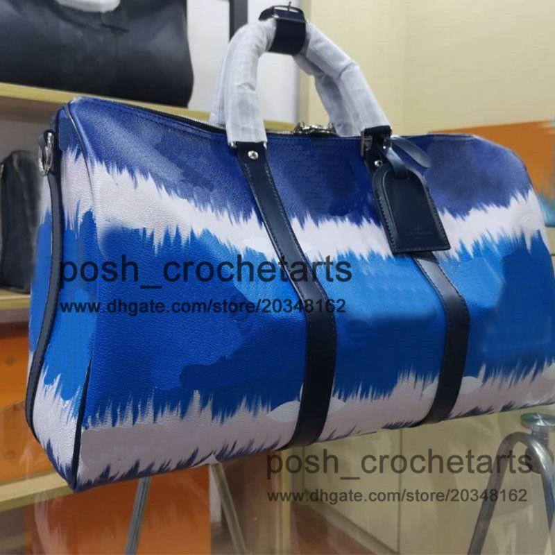 Moda Duffel Tasarımcı Baskılar 45 cm Boya Kravat Ile Lüks Duffel Çantalar Seyahat Çantası Tasarımcısı Kravat Boya Yaz QSFWR