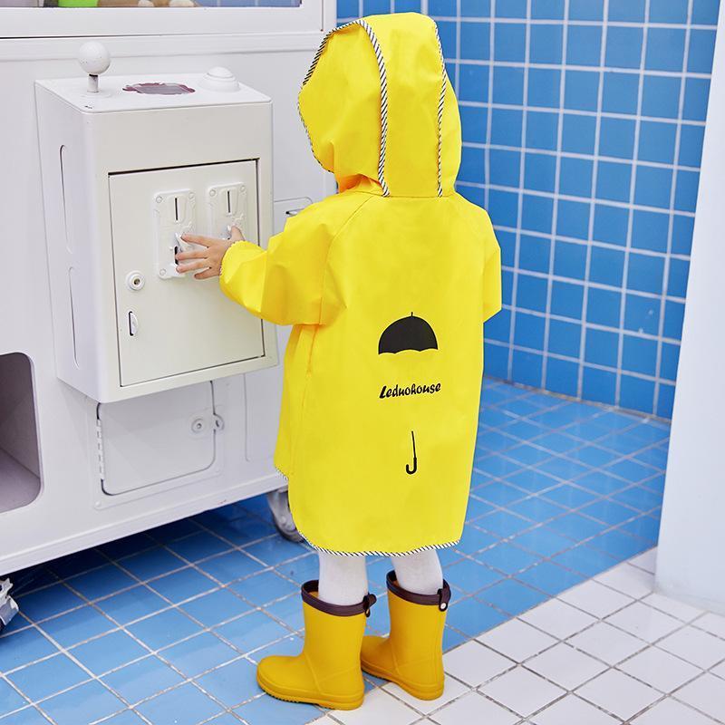 في الهواء الطلق لطيف للماء معطف واق من المطر الأطفال معطف واق من المطر للاطفال ملابس ضد المطر / فتى فتاة الطلاب الأصفر معطف واق من المطر في الهواء الطلق لطيف BrIzY