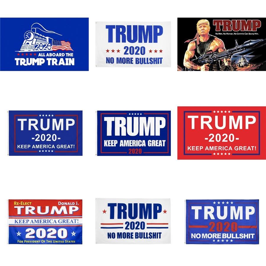 Trump 2020 Imprimer Drapeau Keep America Grande Bannière Décor pour le président américain Usa Election No More Bullshirt Flags Donald Pays 90x150cm # 84
