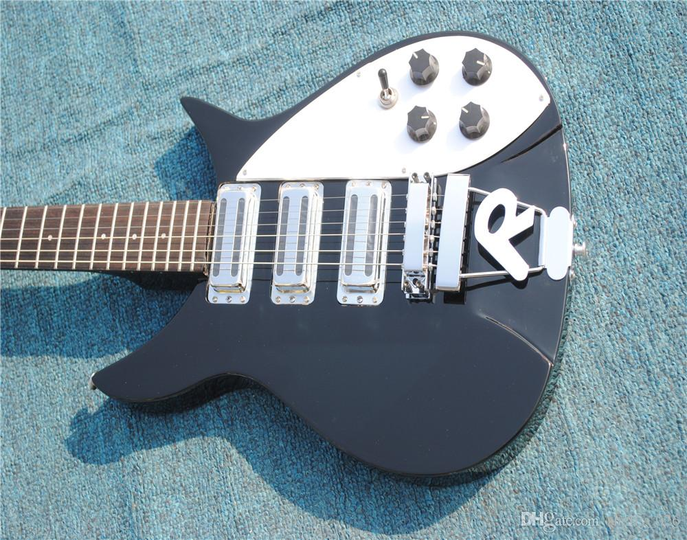 Free Shipping High quality,Semi Hollow body Rick 360 Electric guitar 12 strings guitar 3 pickups in Classic black