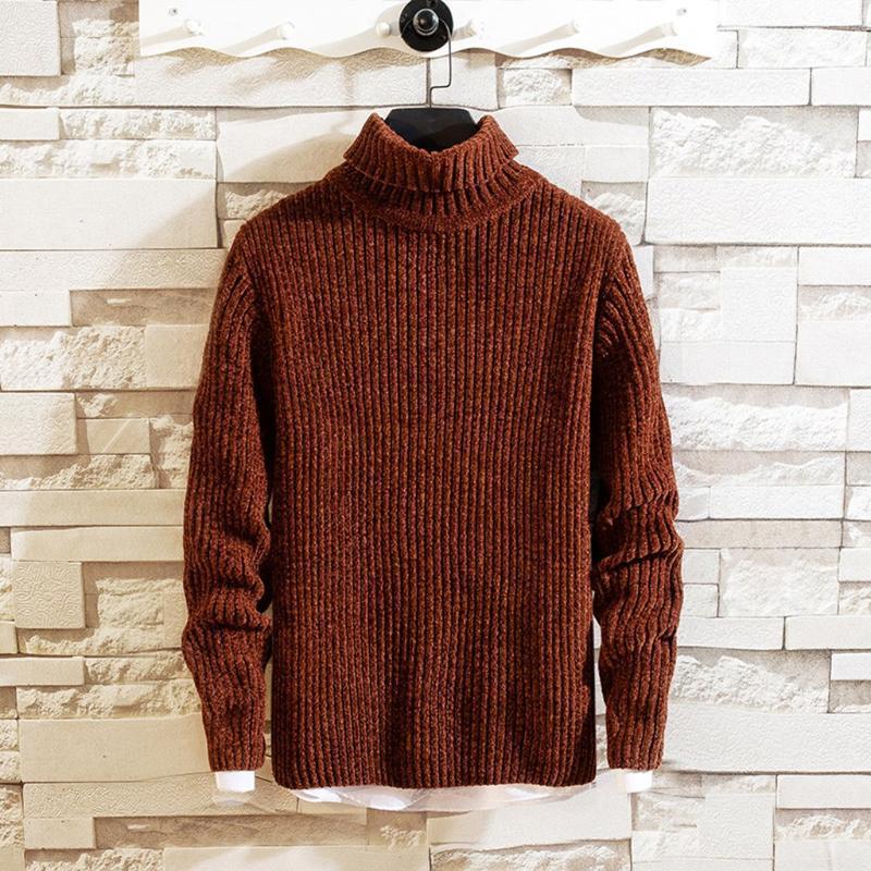 Männer Pullover mit Stehkragen Pullover Herbst Winter Thick Kaschmir Marke Man Pullover Herbst voller Hülse Pullover sweter Pull Homme Pullover warm