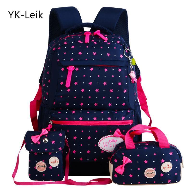Yk-leik Star Stampa Sacchetti di scuola per bambini Per ragazze Adolescenti Zaini Bambini Ortopedia Zaini Zaino Mochila Infantil Y190601