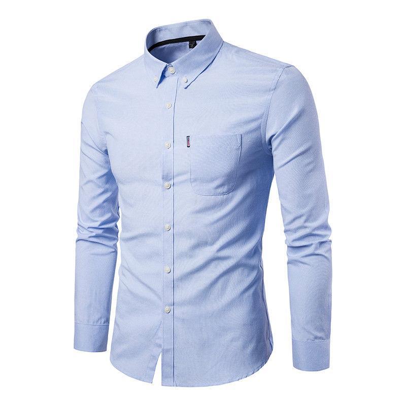 Luxury Mens Stylish Slim Fit Long Sleeve Casual Formal Dress Shirts T-Shirt Tops
